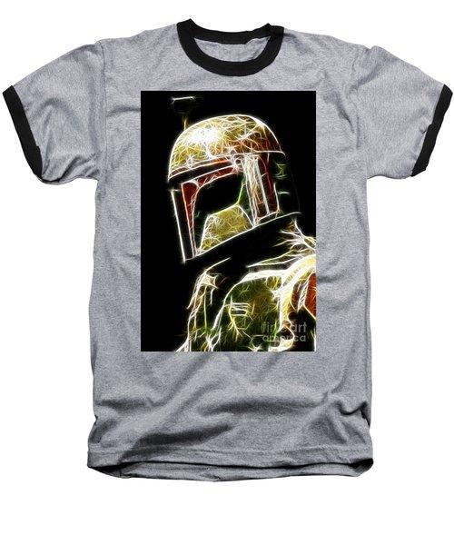 Boba Fett Baseball T-Shirt by Paul Ward