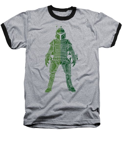 Boba Fett - Star Wars Art, Green 02 Baseball T-Shirt