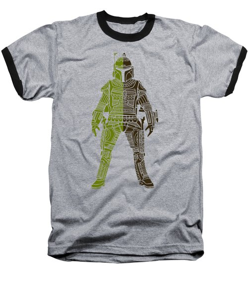 Boba Fett - Star Wars Art, Green 03 Baseball T-Shirt