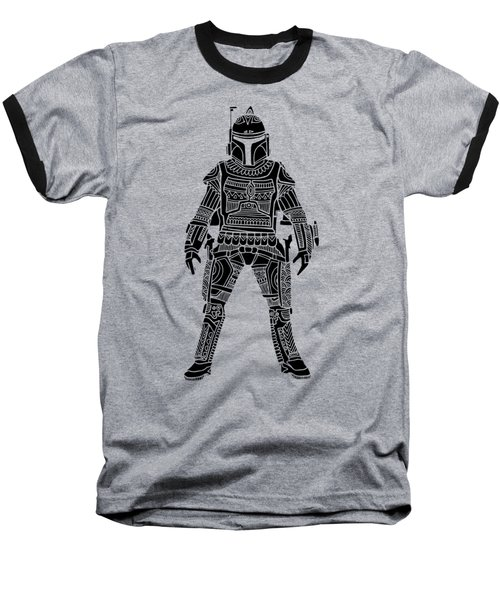 Boba Fett - Star Wars Art, Green Baseball T-Shirt