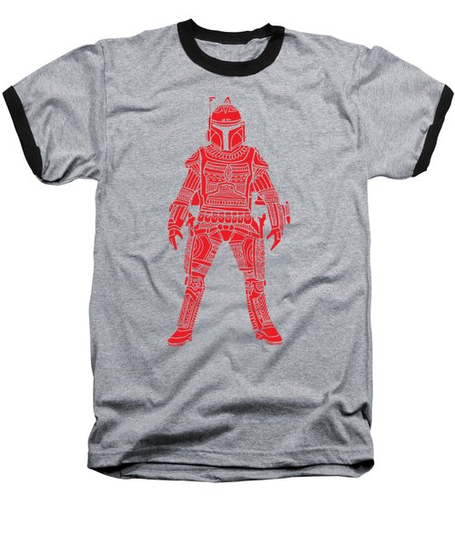 Boba Fett - Star Wars Art, Red Baseball T-Shirt