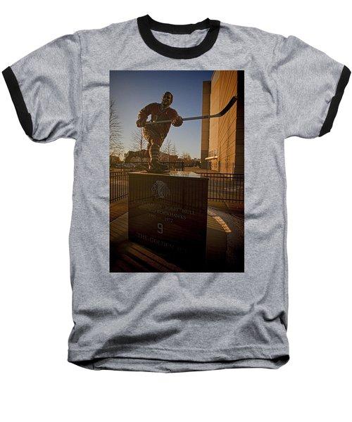 Bobby Hull Sculpture Baseball T-Shirt