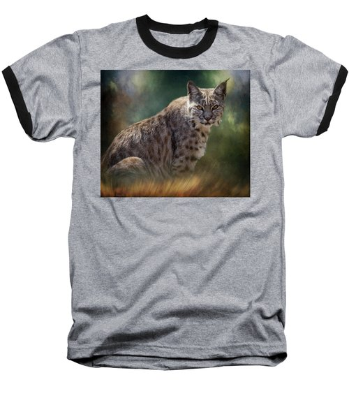 Bobcat Gaze Baseball T-Shirt