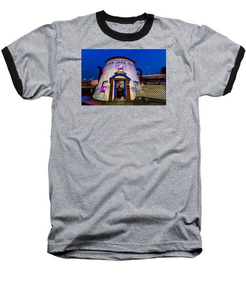 Bob's Java Jive - Historic Landmark During Blue Hour Baseball T-Shirt by Rob Green