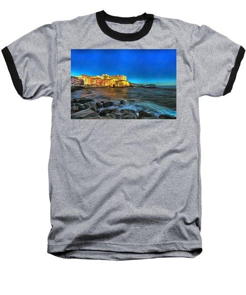 Boccadasse Beach On An Autumn Bright Sunny Day Baseball T-Shirt