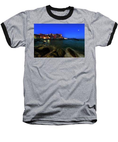 Boccadasse By Night Baseball T-Shirt