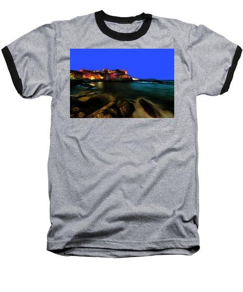 Boccadasse By Night Paint Baseball T-Shirt