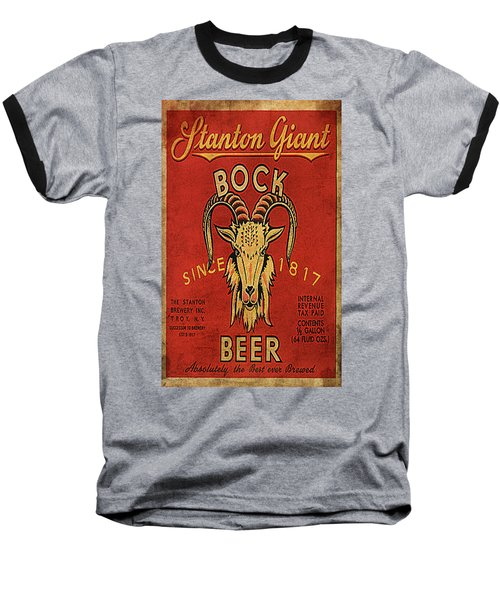 Baseball T-Shirt featuring the digital art Bock Beer by Greg Sharpe