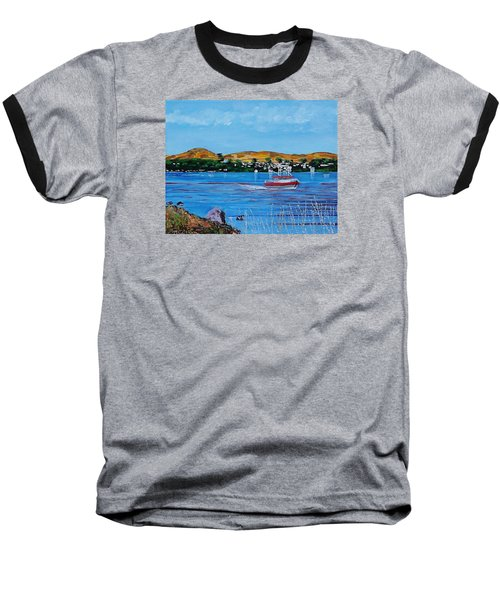 Bodega Bay From Campbell Cove Baseball T-Shirt by Mike Caitham
