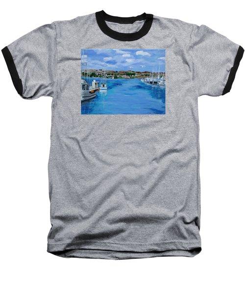 Bodega Bay From Spud Point Marina Baseball T-Shirt by Mike Caitham