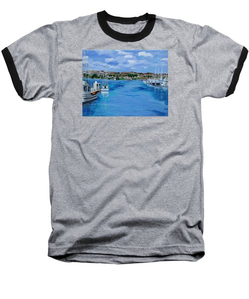 Bodega Bay From Spud Point Marina Baseball T-Shirt