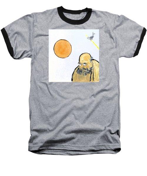 Bodhidharma Musing Silence Baseball T-Shirt