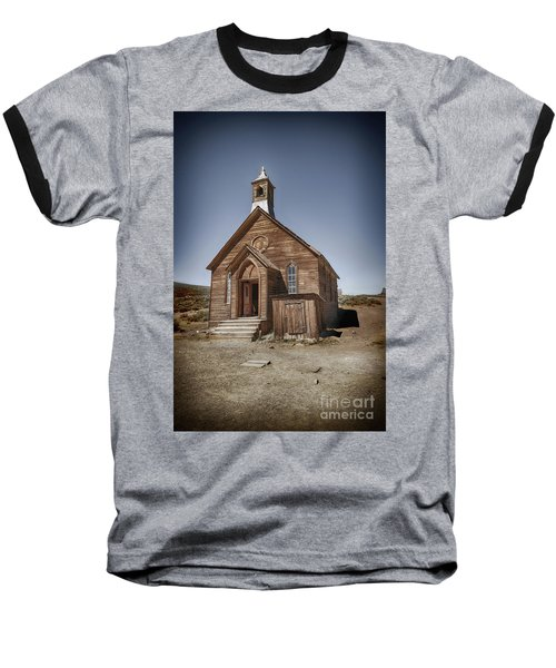 Baseball T-Shirt featuring the photograph Bodie Church by Jim  Hatch