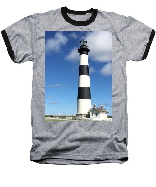 Bodie Island Lighthouse Cape Hatteras Baseball T-Shirt
