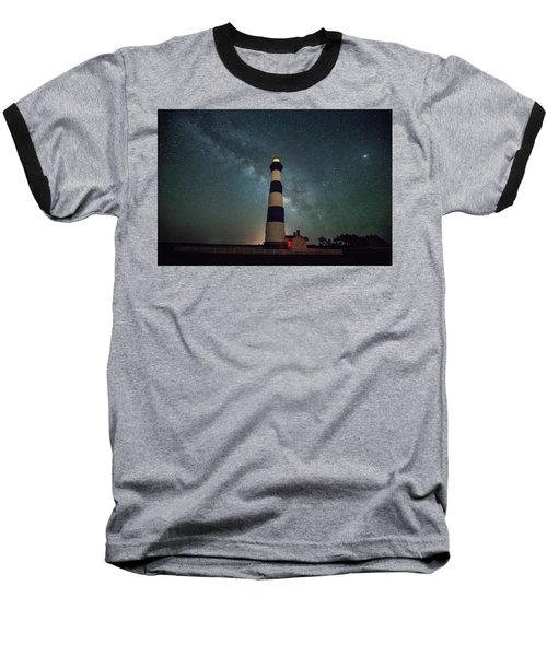 Bodie Lighthouse And Milky Way Baseball T-Shirt