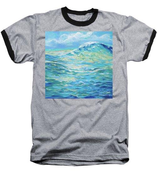 Bodysurfing Rolling Wave Baseball T-Shirt