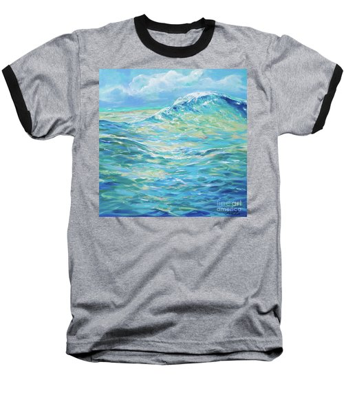 Bodysurfing Rolling Wave Baseball T-Shirt
