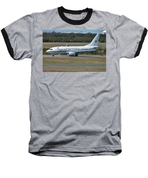 Boeing 737-7dt Baseball T-Shirt by Tim Beach