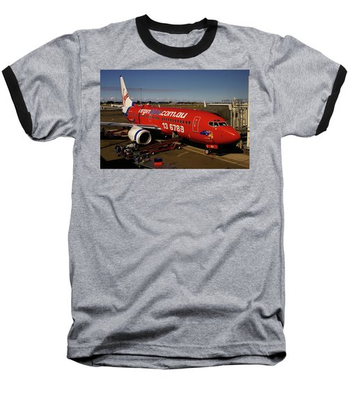 Boeing 737-7q8 Baseball T-Shirt by Tim Beach