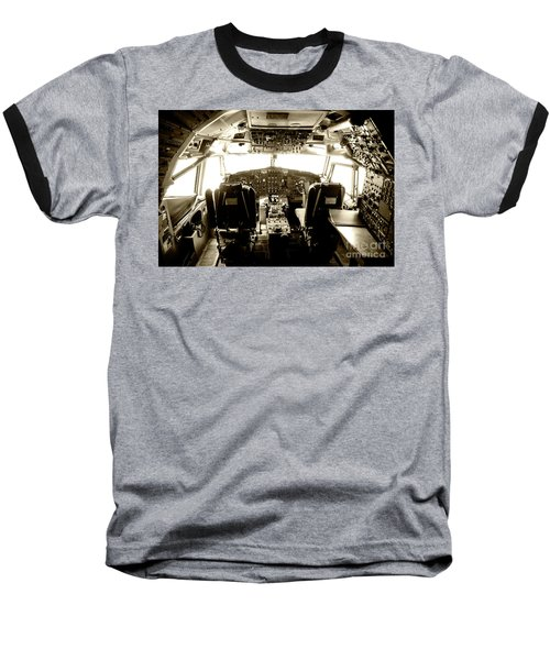 Baseball T-Shirt featuring the photograph Boeing 747 Cockpit 21 by Micah May