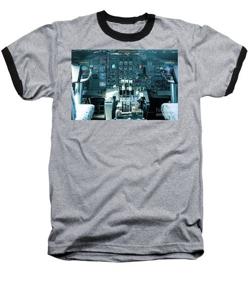 Baseball T-Shirt featuring the photograph Boeing 747 Cockpit 23 by Micah May