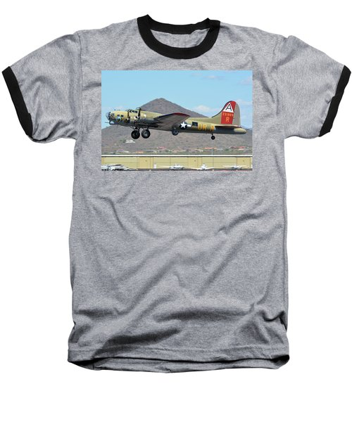 Baseball T-Shirt featuring the photograph Boeing B-17g Flying Fortress N93012 Nine-o-nine Deer Valley Arizona April 13 2016 by Brian Lockett