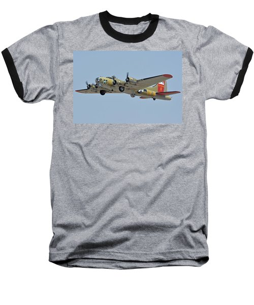 Baseball T-Shirt featuring the photograph Boeing B-17g Flying Fortress N93012 Nine-o-nine Phoenix-mesa Gateway Airport Arizona April 15, 2016 by Brian Lockett