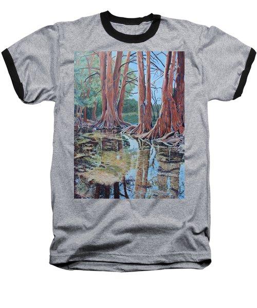 Boerne River Scene Baseball T-Shirt