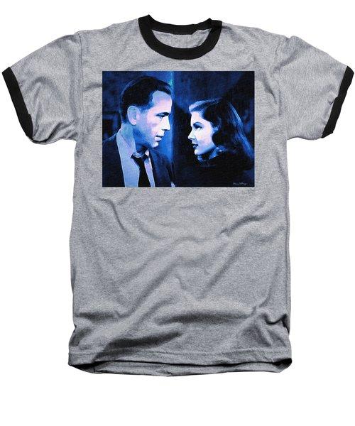 Bogart And Bacall - The Big Sleep Baseball T-Shirt