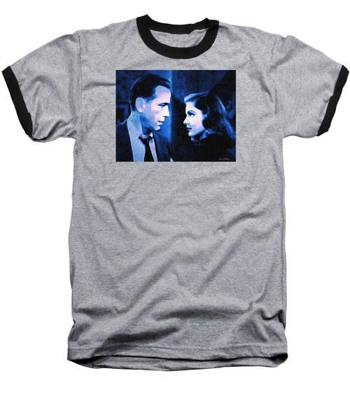 Bogart And Bacall - The Big Sleep Baseball T-Shirt