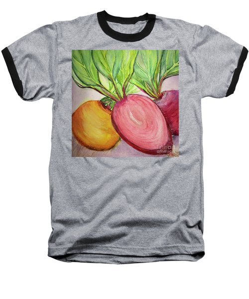Baseball T-Shirt featuring the painting Bold Beets by Kim Nelson