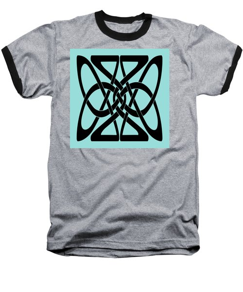 Baseball T-Shirt featuring the digital art Bold Black Celtic Knot by Jane McIlroy