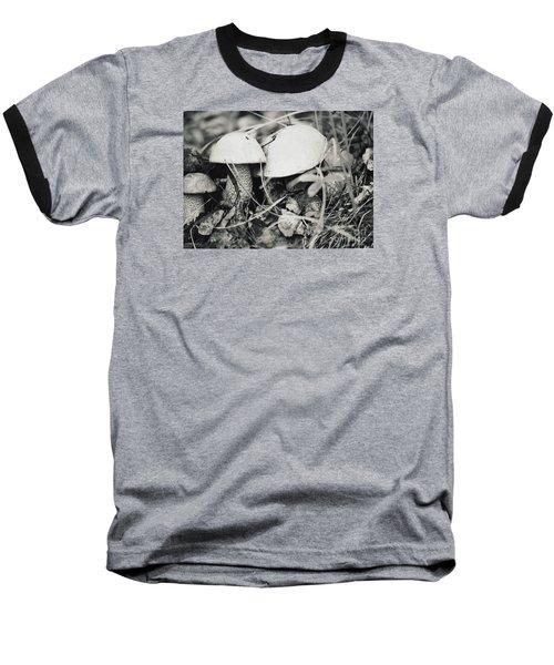 Baseball T-Shirt featuring the photograph Boletus Mushrooms by Juls Adams