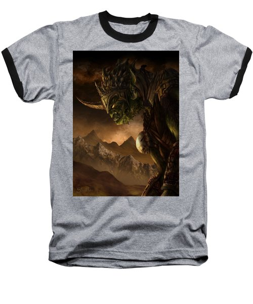 Bolg The Goblin King Baseball T-Shirt by Curtiss Shaffer