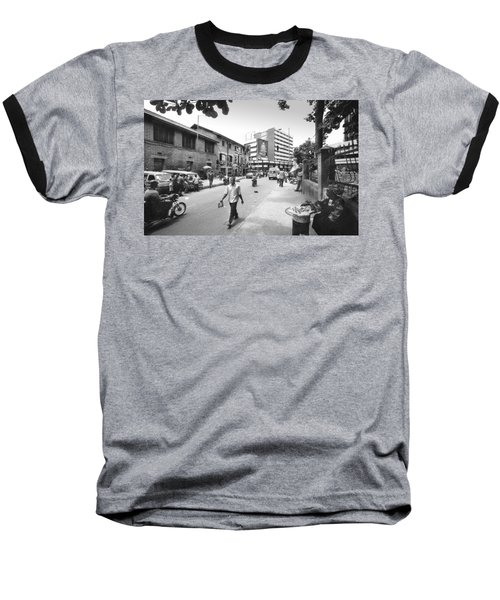Broad Street Facing Cms Bus-stop Baseball T-Shirt