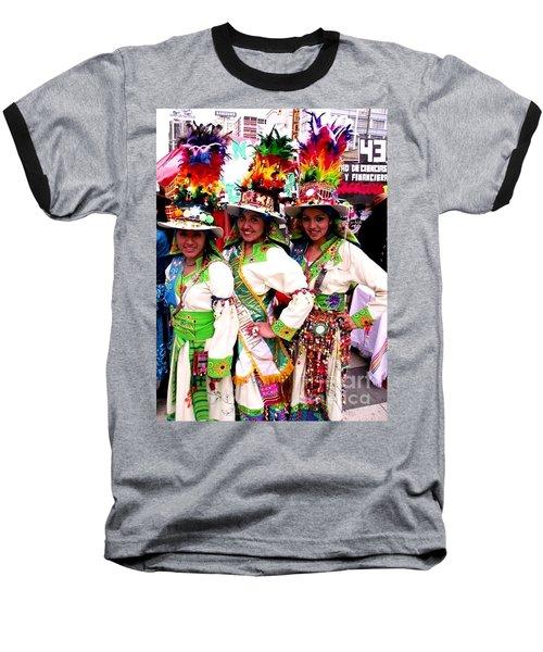 Bolivian University Student Dancers 1 Baseball T-Shirt