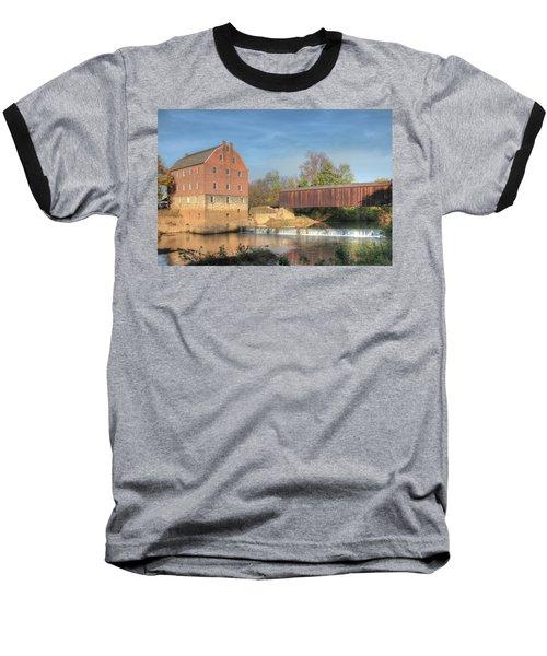 Bollinger Mill And Burfordville Covered Bridge Baseball T-Shirt