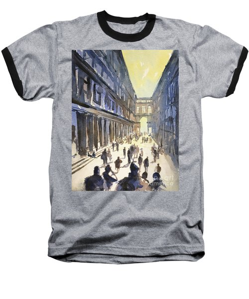 Baseball T-Shirt featuring the painting Bologna Sunset- Italy by Ryan Fox