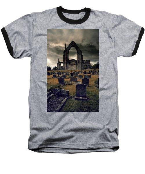 Bolton Abbey In The Stormy Weather Baseball T-Shirt by Jaroslaw Blaminsky