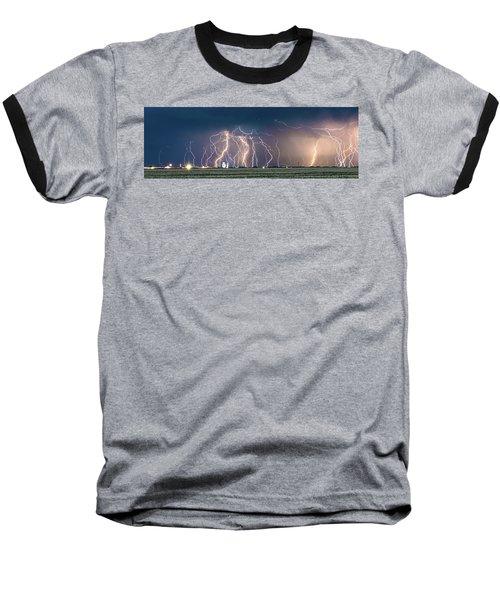 Bolts Over Bushland Baseball T-Shirt