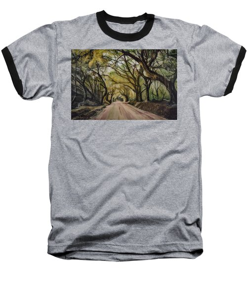 Baseball T-Shirt featuring the painting Bombay Road by Ron Richard Baviello
