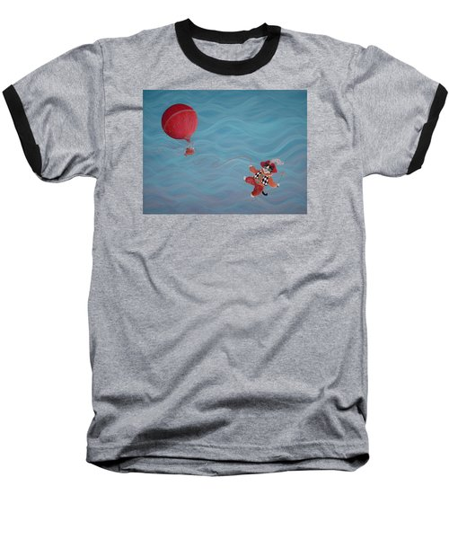 Baseball T-Shirt featuring the painting Bon Voyage by Dee Davis