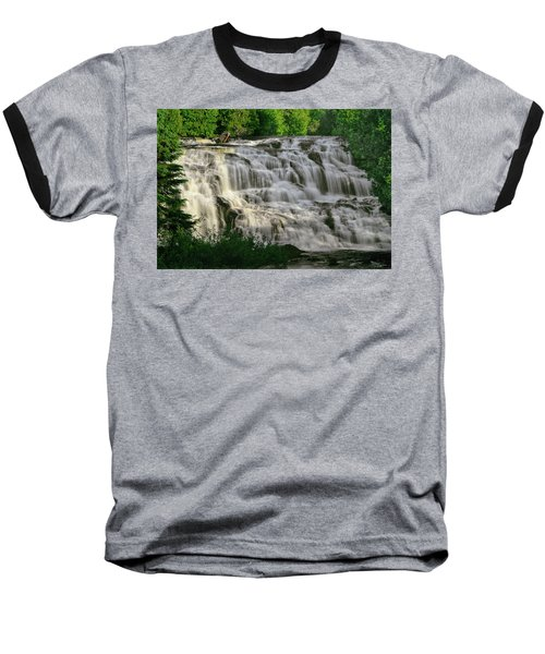 Baseball T-Shirt featuring the photograph Bond Falls - Haight - Michigan 001 by George Bostian