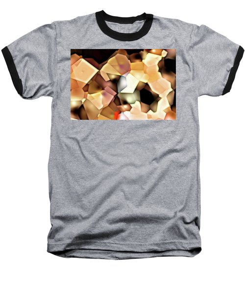 Baseball T-Shirt featuring the digital art Bonded Shapes by Ron Bissett