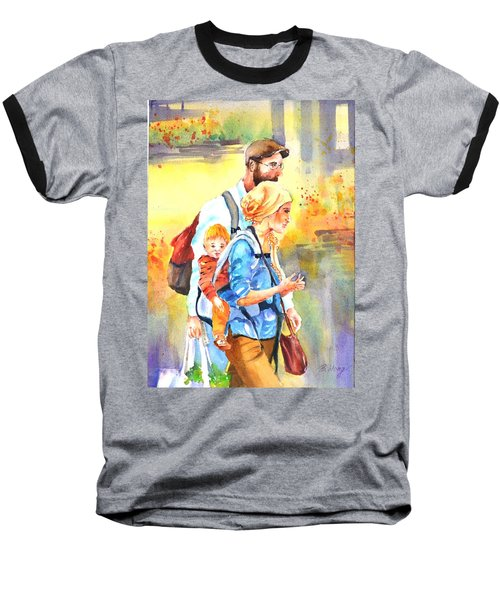 Bonding #5 Baseball T-Shirt by Betty M M Wong