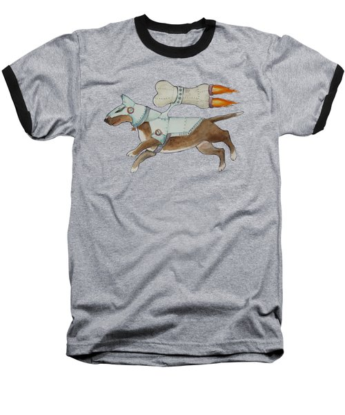 Baseball T-Shirt featuring the painting Bone Commander - Apparel  by Jindra Noewi