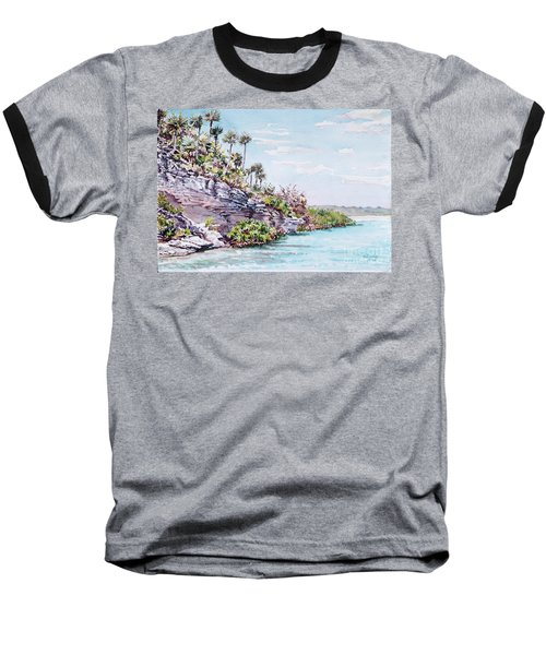Bonefish Creek Watercolour Study Baseball T-Shirt