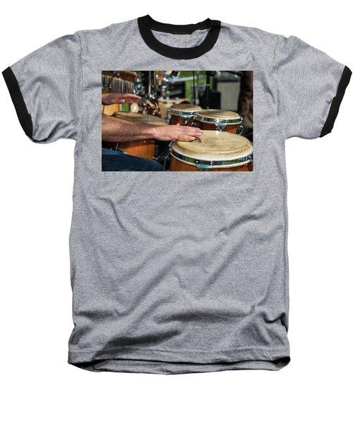 Bongo Hand Drums Baseball T-Shirt