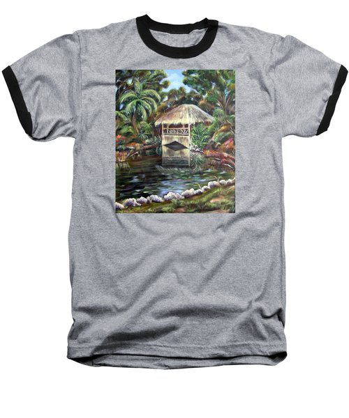 Bonnet House Chickee Baseball T-Shirt by Patricia Piffath