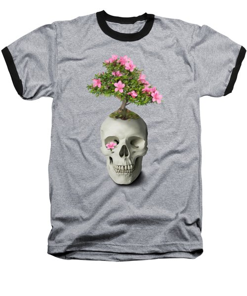 Baseball T-Shirt featuring the painting Bonsai Skull by Ivana Westin